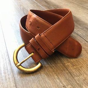 Coach British Tan Brown Leather Belt Medium